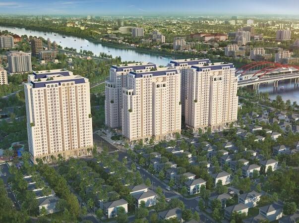 Phối cảnh tổng thể dự án Dream Home Riverside