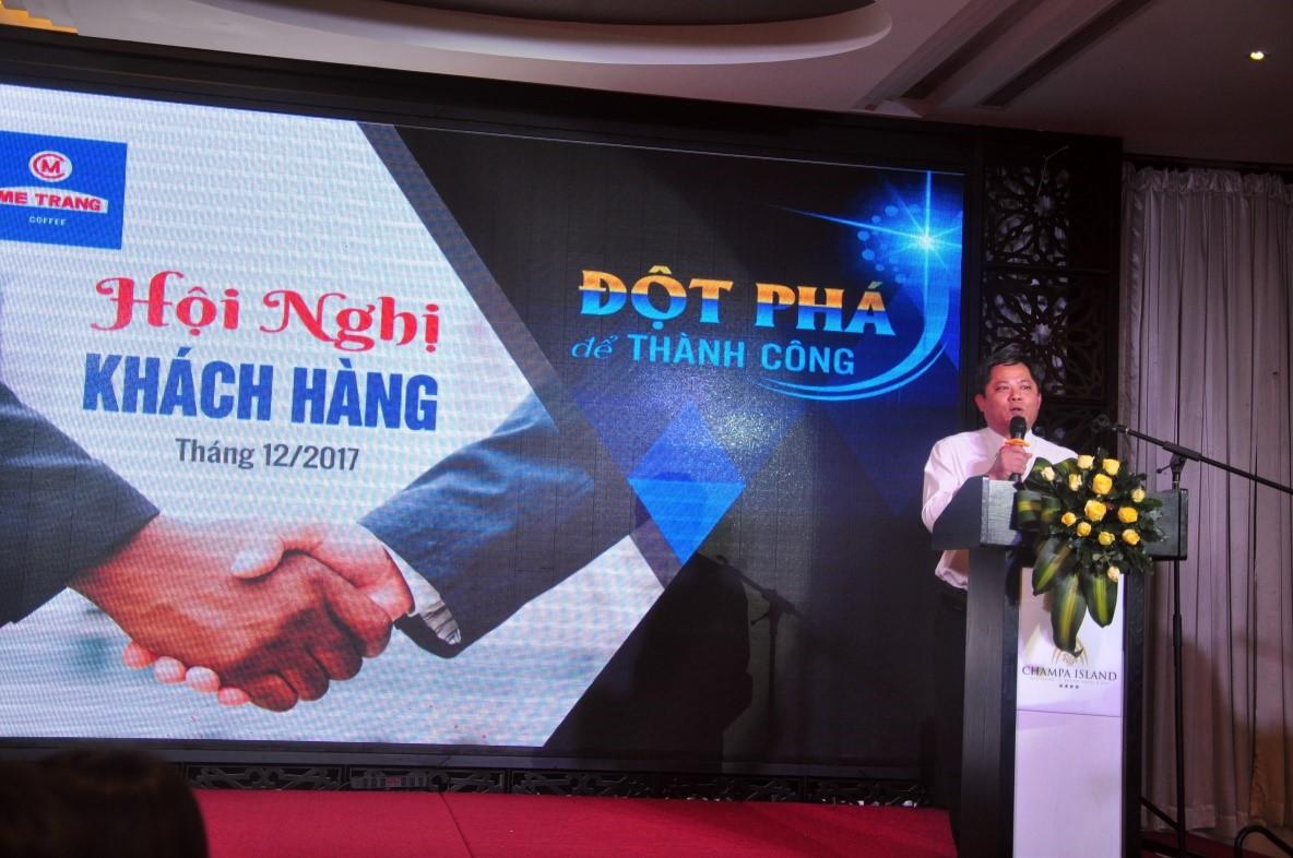 Ông Lương Thế Hùng – Chủ tịch hội đồng quản trị kiêm Tổng giám đốc Cty phát biểu tại buổi lễ.
