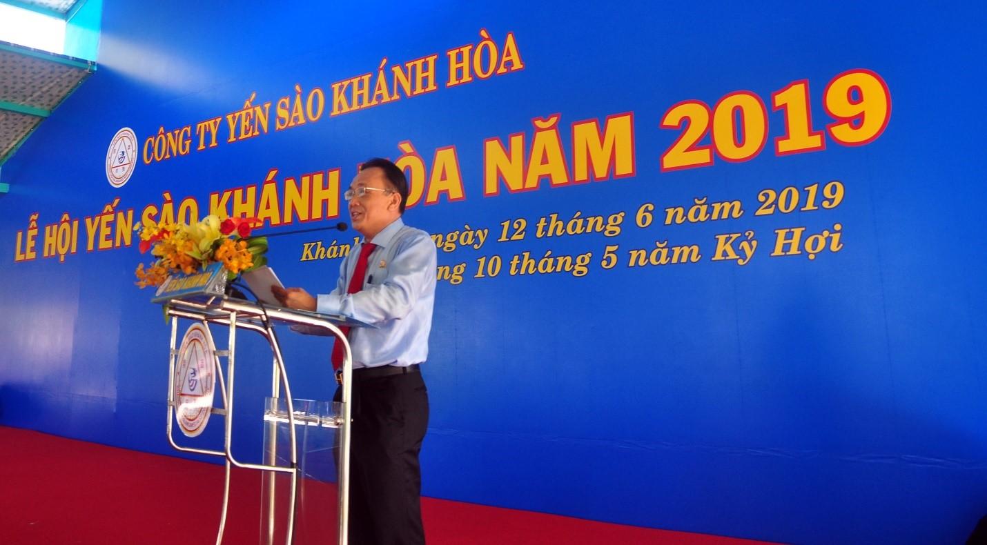 Thạc sĩ Lê Hữu Hoàng, Chủ tịch HĐTV Công Ty Yến Sào Khánh Hòa Tổng kết hoạt động Khen thưởng