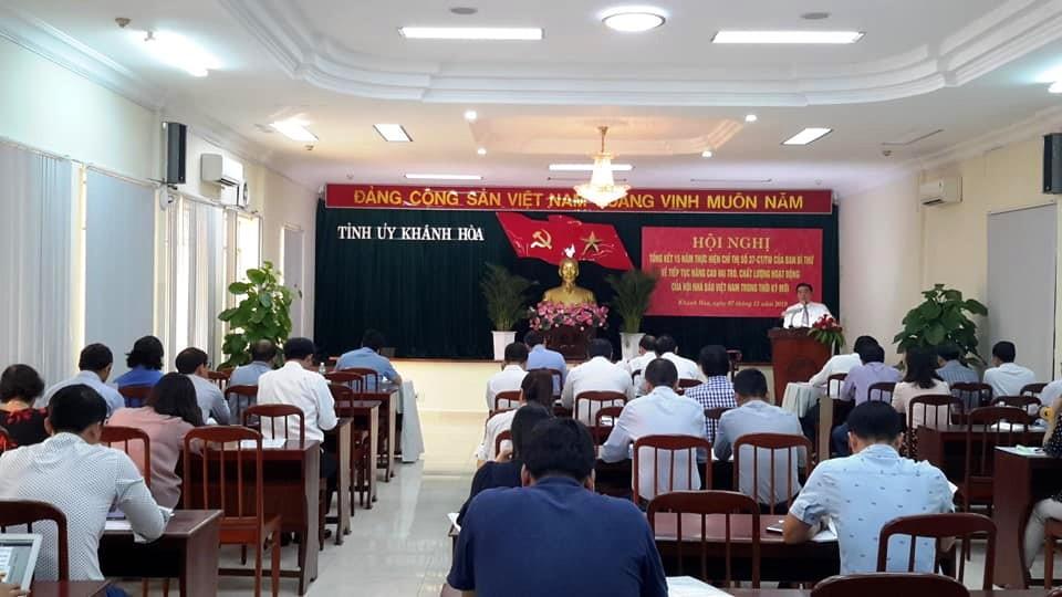 """Toàn cảnh Hội nghị Hội nghị Tổng kết 15 năm thực hiện Chỉ thị 37 - CT/TW   của Ban Bí Thư (Khóa lX) """"Về tiếp tục nâng cao vai trò, chất lượng hoạt động của Hội Nhà báo Việt Nam trong thời kỳ mới"""""""