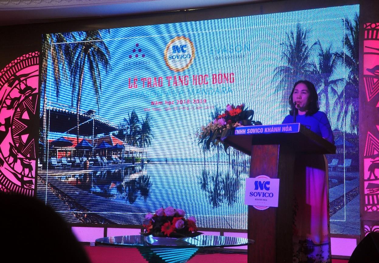Bà Nguyễn Thị Thu Nguyệt Tổng Giám Đốc Khu nghỉ mát Evason Ana Mandara Nha Trang