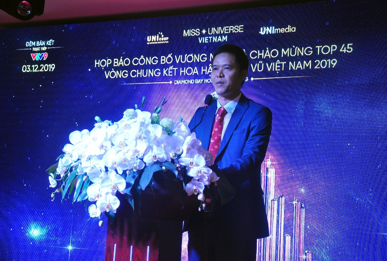 Ông Trần Ngọc Nhật, Trưởng ban tổ chức cuộc thi Hoa Hậu Hoàn Vũ Việt Nam 2019