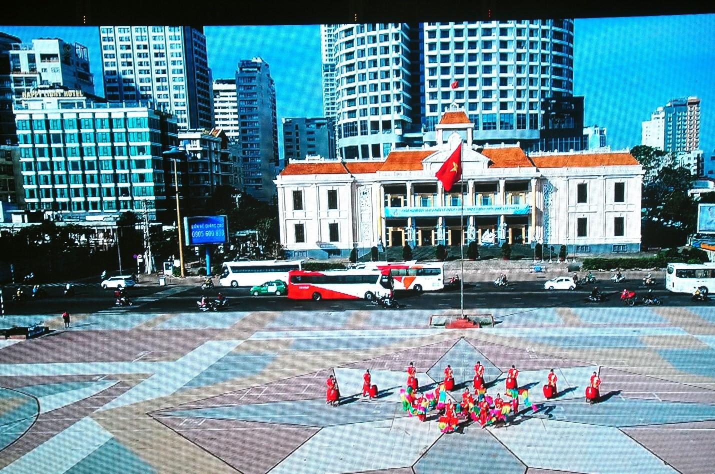 Trung Tâm Hội Nghị 46 Trần Phú Nha Trang, nơi diễn ra Liên Hoan Truyền Hình  (ảnh cắt clip Phóng sự giới thiệu về Liên Hoan Truyền hình)