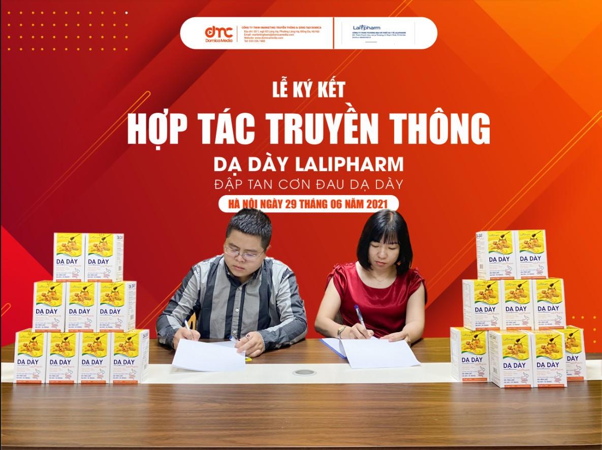 Hà Nội - Sáng 29-06, Lễ ký kết hợp tác truyền thông giữa Domica và Lalipharm đã được diễn ra