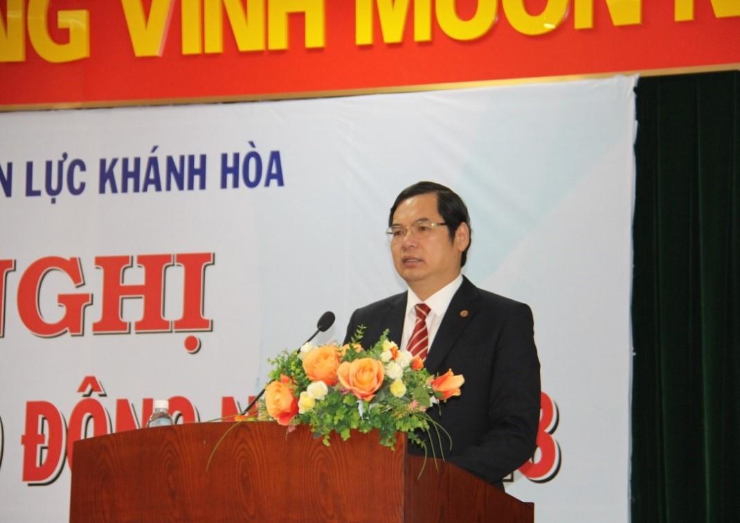 Ông Nguyễn Thanh Phó Tổng Giám đốc Tập đoàn Điện lực Việt Nam phát biểu