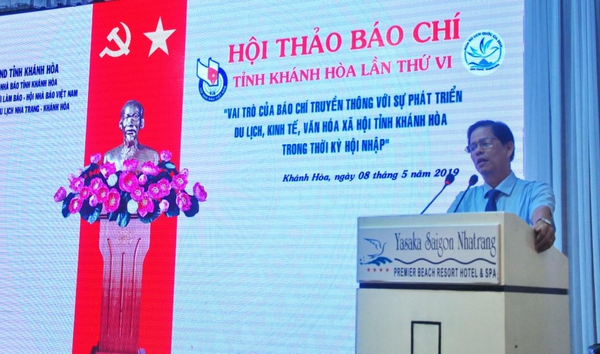 ông Nguyễn Tấn Tuân – Phó Bí thư Thường trực Tỉnh ủy, Chủ tịch HĐND tỉnh Khánh Hòa phát biểu