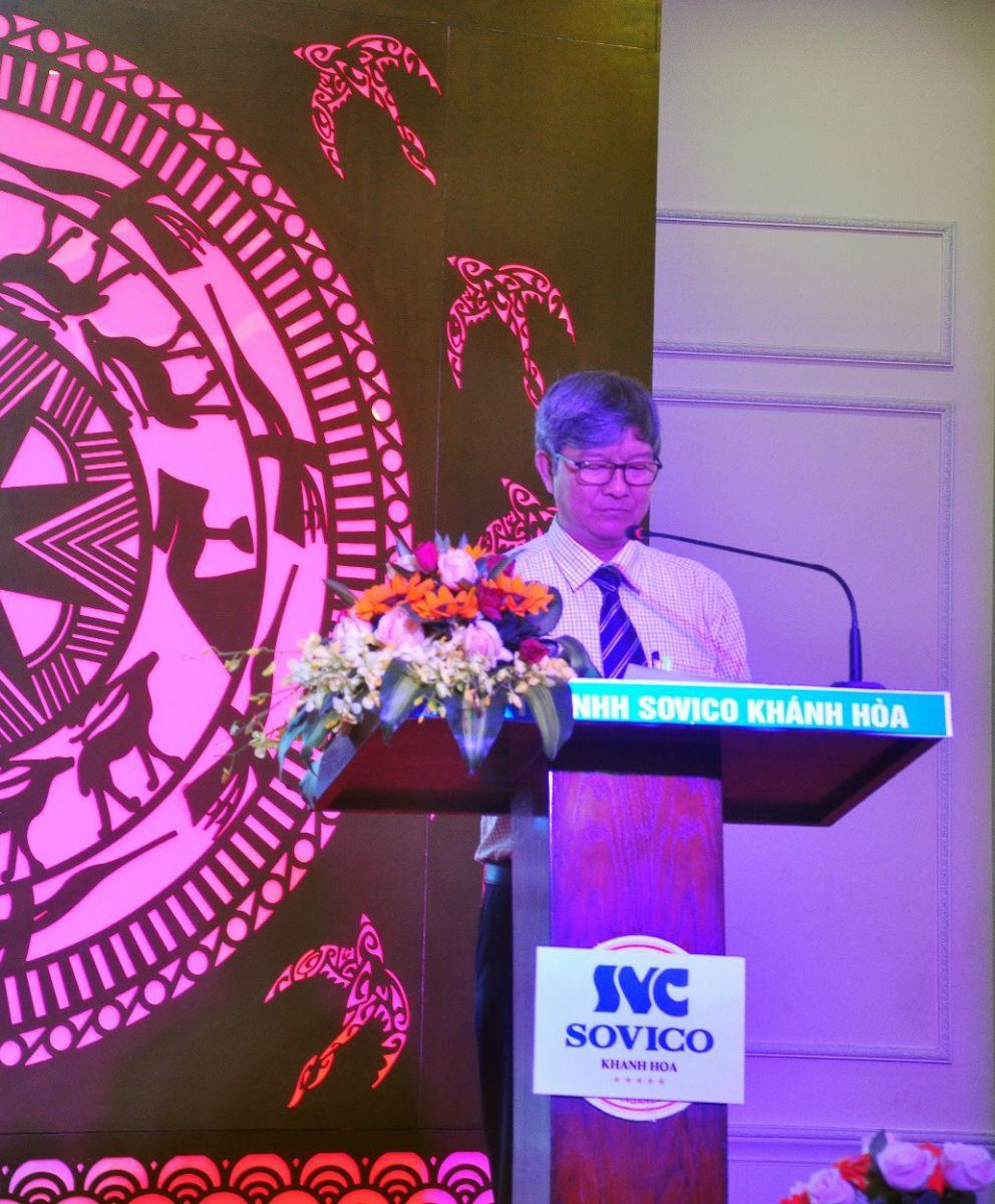 Ông Lê Đình Thuần, P.Giám Đốc Sở Giáo Dục Đào Tạo Khánh Hòa phát biểu về học bổng  Evason Ana Mandara với việc góp phần vào công tác giáo dục.