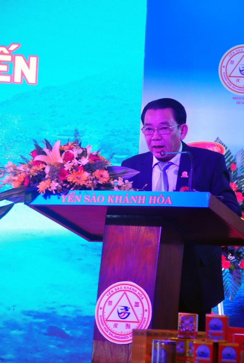 Ông Nguyễn Anh Hùng Chủ tịch HĐTV Công Ty Yến Sào Khánh Hòa phát biểu khai mạc
