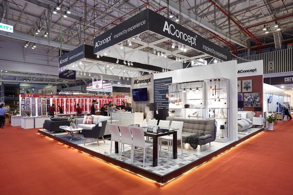 Gian hàng của thương hiệu nội thất AConcept tại VietBuild Home HCM lần 3,  2017 mang đậm phong cách Bắc Âu  tinh tế