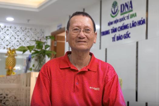Ông Phan Dũng chia sẻ về thành công của liệu trình-Ảnh:DNA