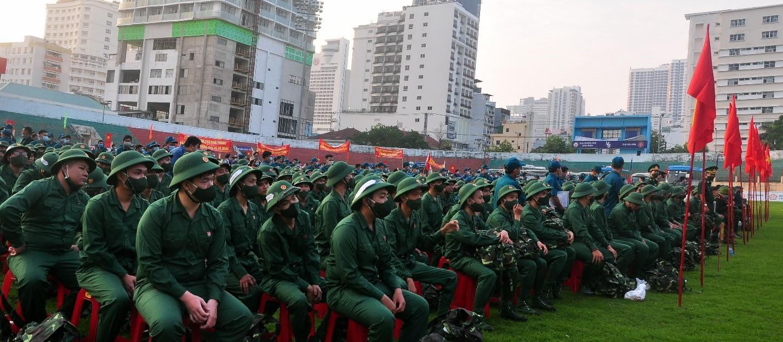 Toàn cảnh Lễ Giao quân, các TN lên đường làm NVQS.