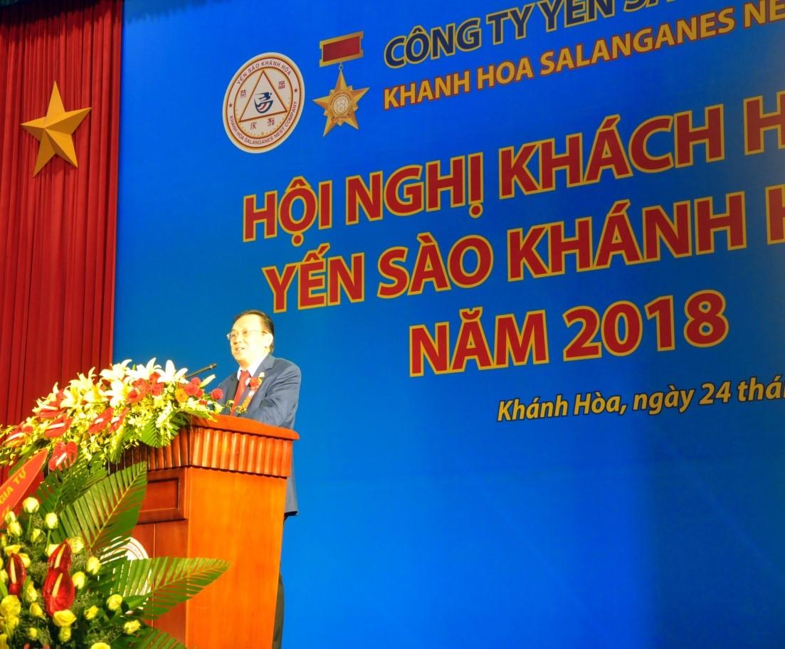 Ông Lê Hữu Hoàng, Chủ tịch Hội Đồng Quản Trị Tổng công Ty Yến Sào Khánh Hòa