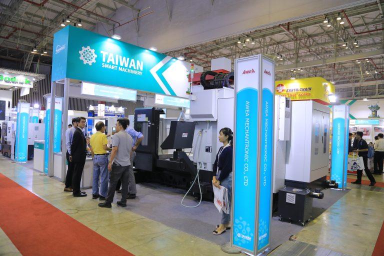 Gian hàng giới thiệu sản phẩm của một doanh nghiệp Đài Loan tại triển lãm MTA 2019