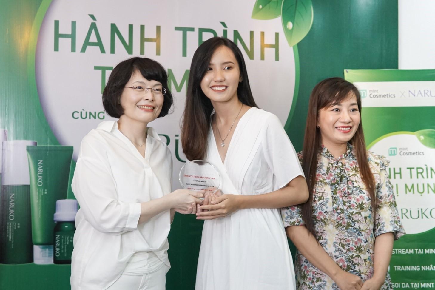 Chứng nhận Mint là đại lý uy tín phân phối các sản phẩm Naruko Việt Nam