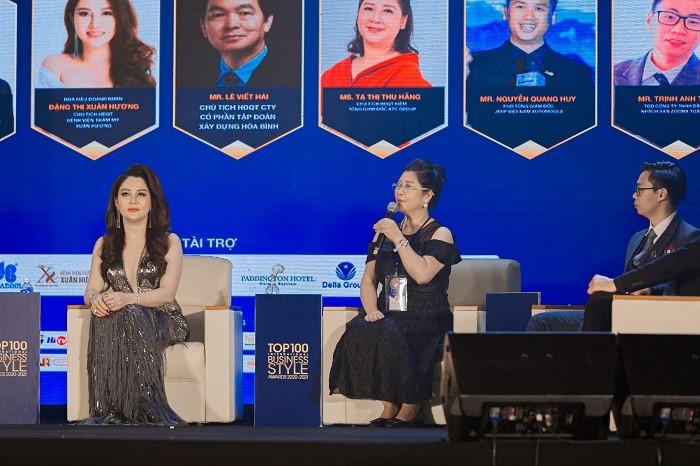 Bà Tạ Thị Thu Hằng làm diễn giả trong talkshow