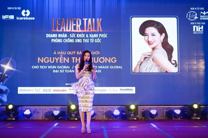 Mrs. Nguyễn Thu Hương – Đại sứ toàn cầu của chương trình đã gióng lên hồi chuông cảnh báo về vấn nạn ung thư ngày nay