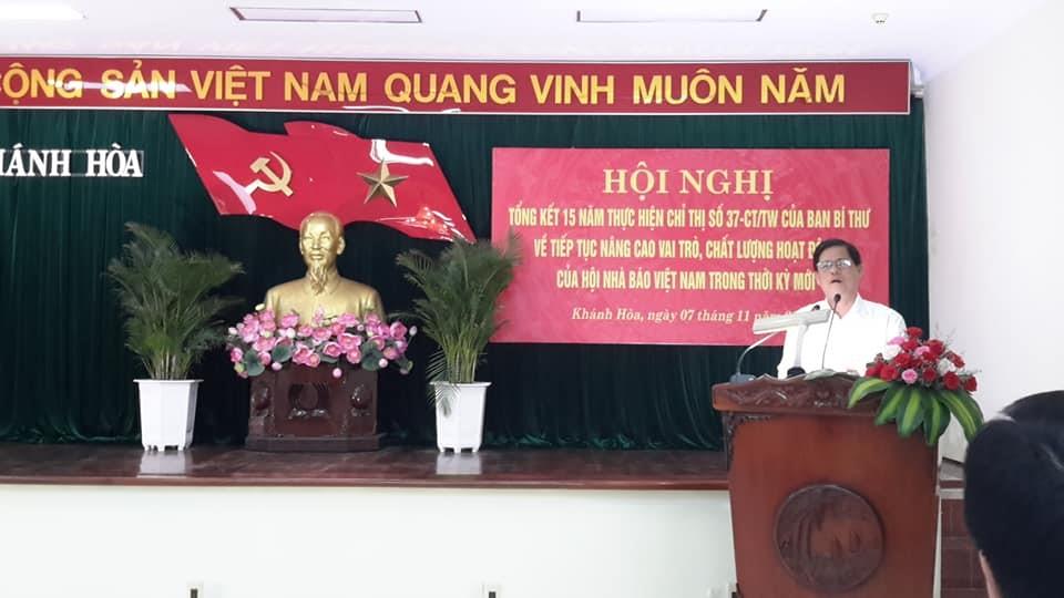 Ông Nguyễn Tấn Tuân, P.Bí Thư Thường trực Tỉnh Ủy, Chủ tịch H ĐND Tỉnh Khánh Hòa, phát biểu chỉ đạo Hội nghị