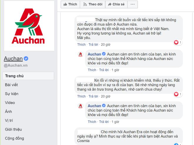 Người tiêu dùng bày tỏ sự tiếc nuối khi siêu thị quen thuộc Auchan không hoạt động trong thời gian tới.