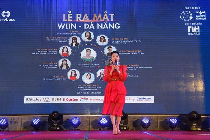 MC Lệ Chi – Chủ tịch WLIN Global phát biểu tại sự kiện trong cương vị mới
