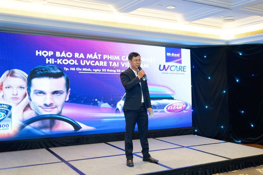 Ông Đồng Xuân Chính, Tổng Giám Đốc Hi-Kool Việt Nam tại buổi ra mắt  sản phẩm Hi-Kool UVCARE