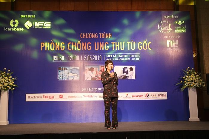 Bà Nguyễn Thu Trang – Đại diện BTC phát biểu tại sự kiện
