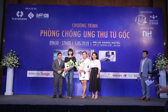 Siêu mẫu Hạ Vy & Diễn viên Ngọc Anh chính là đại sứ ngôi sao chương trình Phòng chống Ung thư từ Gốc