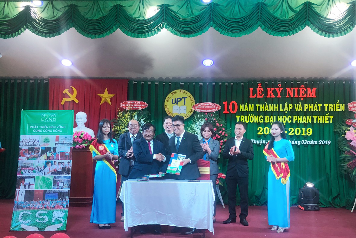 Tập đoàn Novaland ký kết hợp tác chiến lược với Đại học Phan Thiết trong việc đào tạo và cung ứng nguồn nhân lực tại chỗ cho chiến lược phát triển sắp tới tại tỉnh Bình Thuận