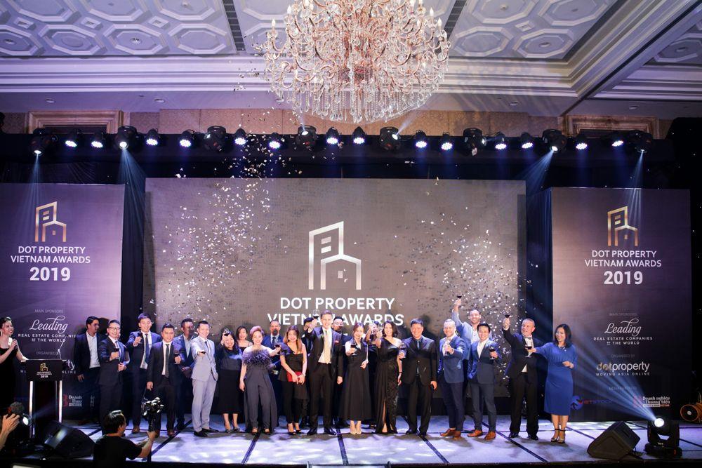 Các đơn vị thắng giải tại lễ trao giải thưởng BĐS Dot Property Vietnam Awards 2019