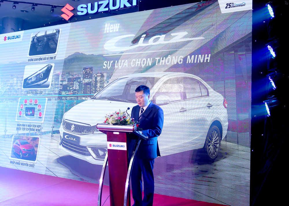 Ông Toshiyuki Takahara, Tổng Giám đốc của Việt Nam Suzuki phát biểu