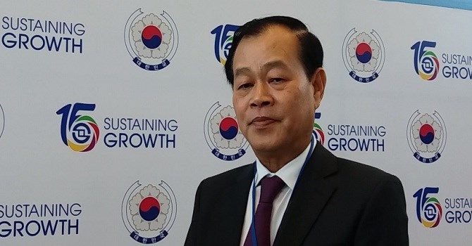Ông Trần Đắc Sinh, Chủ tịch HĐQT Sở Giao dịch Chứng khoán TP.HCM - Ảnh: Huyền Trâm.