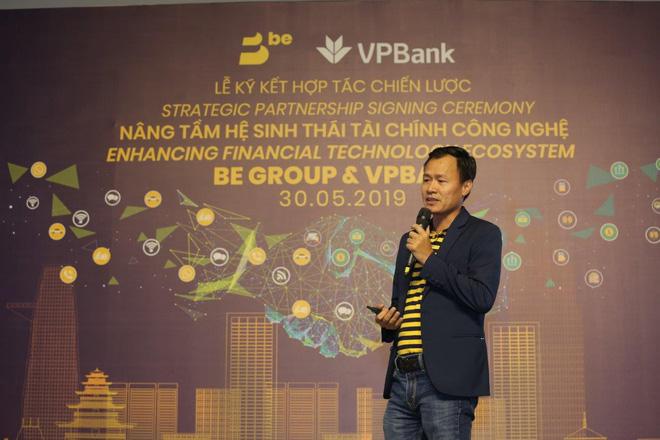 Ông Trần Thanh Hải – Tổng Giám đốc BE GROUP trình bày về hệ sinh thái công nghệ mở của BE GROUP khởi đầu với beFinancial