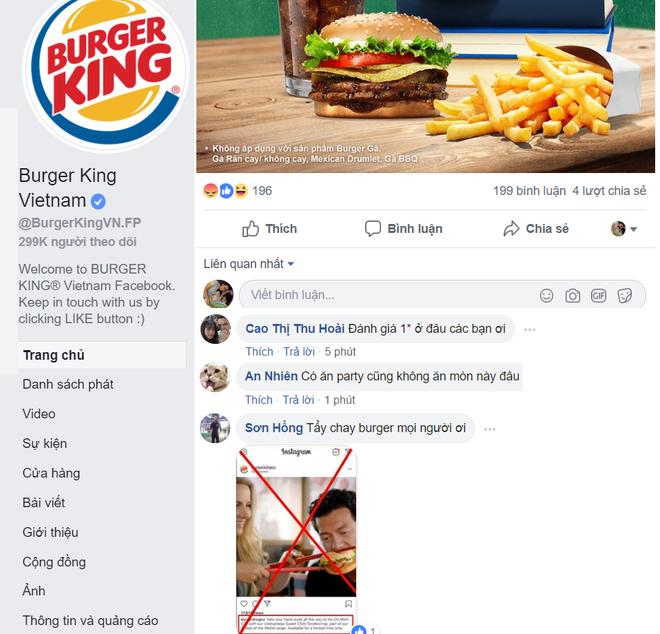 Cơn bão tẩy chay Burger King trên mạng xã hội.