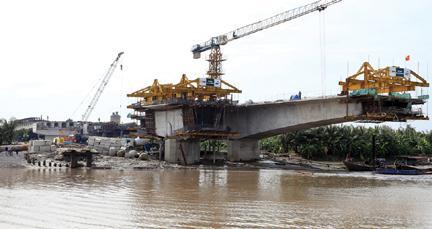 Thi công cầu Niệm 2, Dự án giao thông đô thị Hải Phòng