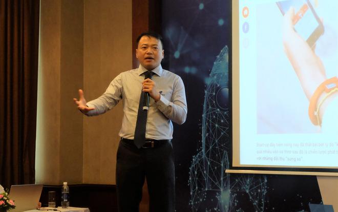 Ông Nguyễn Hòa Bình, Chủ tịch tập đoàn Next Tech chia sẻ về quỹ đầu tư Startup Next100.