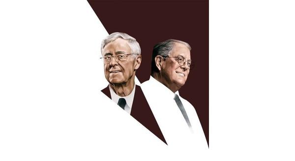 Charles (bên trái) và David Koch cùng phát triển công ty mà cha họ đã gầy dựng.