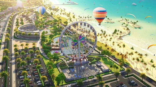 Phối cảnh tổng thể Tổ hợp du lịch nghỉ dưỡng giải trí NovaWorld Phan Thiet (Bình Thuận)