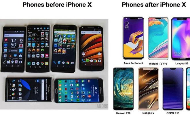 Trước và sau khi iPhone X ra đời