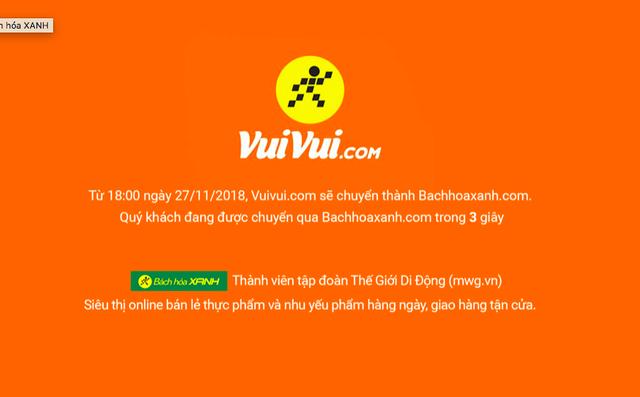Theo MWG, nhằm tập trung chiếm lĩnh mảng online thực phẩm và nhu yếu phẩm thì việc lựa chọn tên website Bachhoaxanh.com là phù hợp hơn so với Vuivui.com.