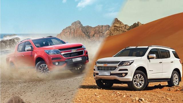 Hai mẫu xe nhập khẩu mang thương hiệu Chevrolet đang được VinFast phân phối.