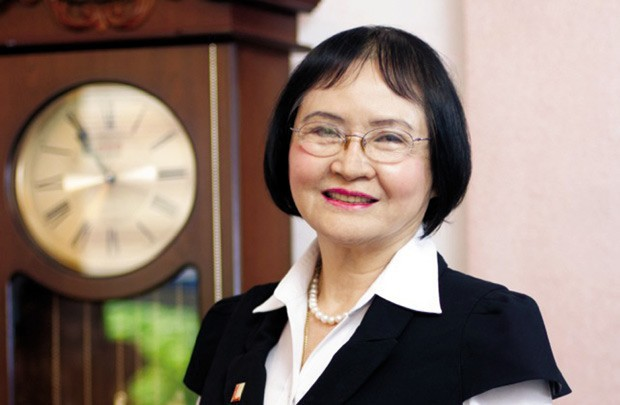 PGS. TS Nguyễn Thị Hòe - Nhà sáng lập đồng thời là Chủ tịch HĐQT Tập đoàn Sơn Kova, cũng là bà ngoại của Nguyễn Duy.