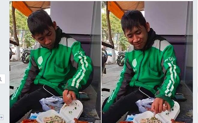 Hình ảnh được cho là tài xế giao đồ ăn tại Đà Nẵng bị khách hàng không nhận hàng - Ảnh chụp màn hình