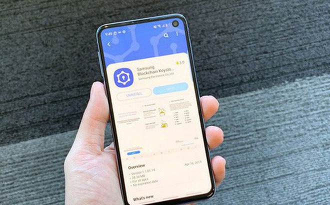 Ứng dụng ví tiền mã hóa trên Galaxy S10
