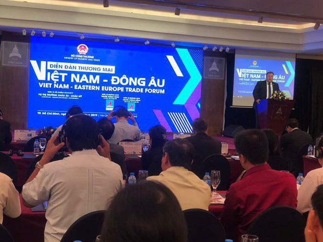 Diễn đàn Thương mại Việt Nam - Đông Âu diễn ra ngày 8/5 tại TPHCM thu hút rất đông sự quan tâm của các doanh nghiệp