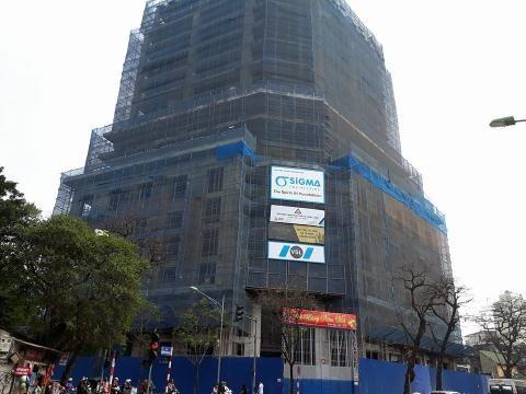 Mặt ngoài dự án số 5 Lê Duẩn của Tập đoàn DOJI sau 9-10 năm xây dựng