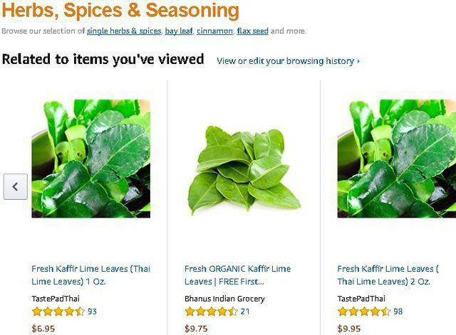 Lá chanh được bán giá gần 7 USD/1 oz tại amazon.com.