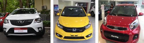 Những thương hiệu lớn VinFast, Honda, Kia,… đang cạnh tranh quyết liệt với nhau ở phân khúc xe đô thị cỡ nhỏ Ảnh: TẤN THẠNH - LONG GIANG