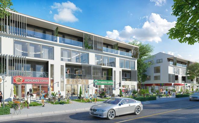 Phối cảnh shophouse thuộc dự án Nhơn Hội New City