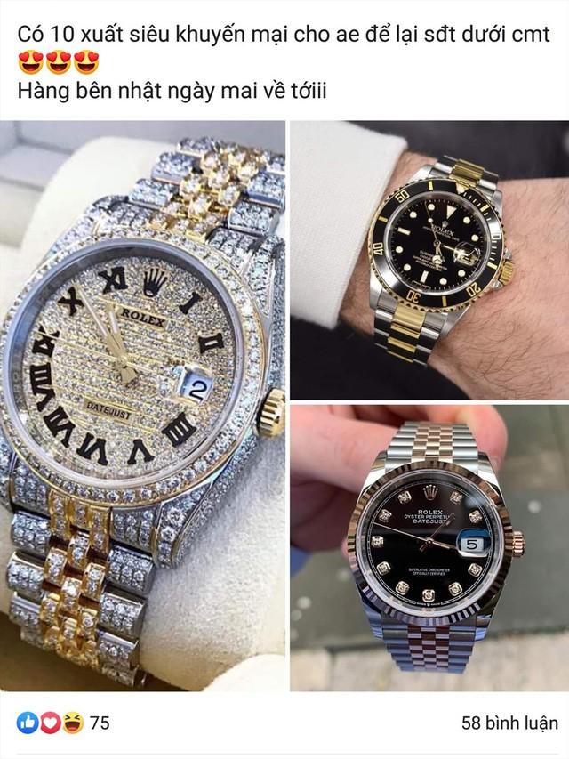 Đồng hồ Rolex giá 700 ngàn đồng, theo các chuyên gia về đồng đồ thì 100% là hàng giả, nhái thương hiệu - Ảnh: PV.