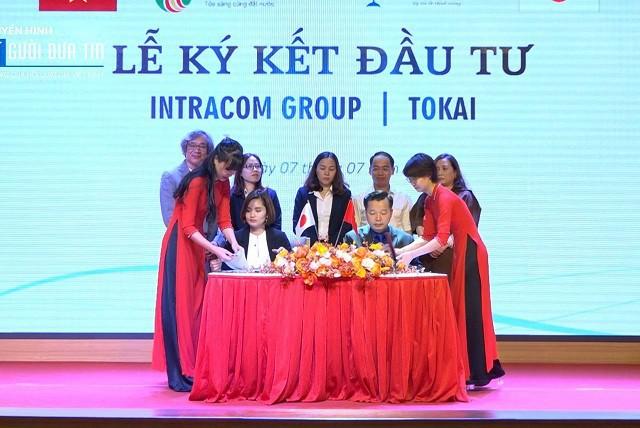 Shark Việt ký kết hợp đồng đầu tư vào Tokai. Ảnh: Intracom Group.