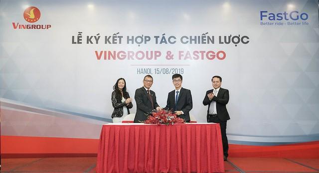 Vingroup và FastGo vừa ký kết hợp tác chiến lược đưa dòng xe Fadil lên ứng dụng gọi xe